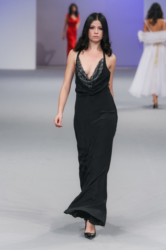 001Cowl neck dress