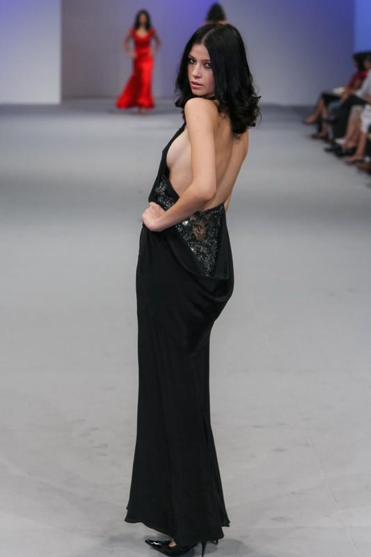 002Cowl neck dress